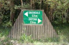 Distance sign near Diepwalle Stock Photo