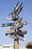 Distance Signs Stock Images