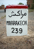 Distance to Marrakech Stock Images