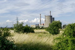 Distance view to Thermoelectric power plant Sofia Iztok Royalty Free Stock Photos