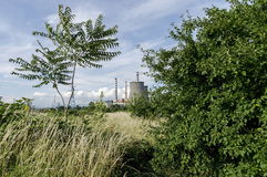 Distance view to Thermoelectric power plant Sofia Iztok Royalty Free Stock Images