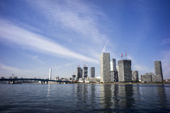 Distance view of Tokyo bay. Under clear blue sky Stock Photo