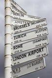 Distances de ville Image libre de droits