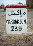 Distancia a Marrakesh Imagenes de archivo