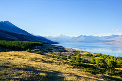 Distant Aoraki/Mount Cook Royalty Free Stock Photography