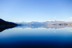 Distant Aoraki/Mount Cook wide view Royalty Free Stock Images