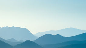 Distant blue hills in distance Royalty Free Stock Image