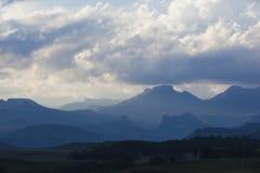 Distant blue mountains Royalty Free Stock Photo