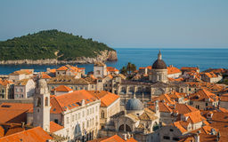 Distant building inside the old town of Dubrovnik Stock Photos