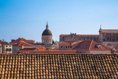Distant building inside the old town of Dubrovnik Stock Images