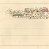 Distant cityscape drawing Stock Images