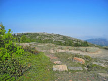 Distant Crowd on Cadillac Mountain Royalty Free Stock Photo