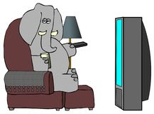 Distant d'éléphant Photo stock