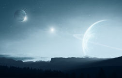 Distant earth stock illustration