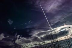 Distant flights Stock Images