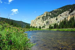 Distant Flyfisherman Royalty Free Stock Images