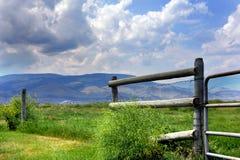 Distant Gallatin Mountains Stock Photo