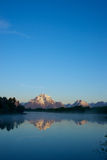 Distant Grand Teton Mountains Royalty Free Stock Images