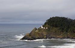 Distant Haceta Head Lighthouse Oregon Coast Stock Photo