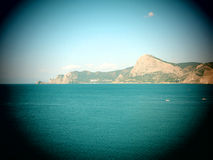 The distant headland. In the Crimea Stock Photo