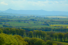 Distant Highlands. A distant view of the Grampian Mountains Royalty Free Stock Image