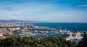 Distant hills on the horizon - Adriatic Sea on the coast of Spain Stock Photo