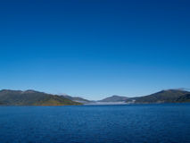 Distant Hills of Marlborough Sounds. Royalty Free Stock Photos