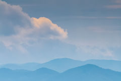 Distant hills in morning mist Stock Image