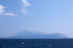 Distant island. Royalty Free Stock Photography