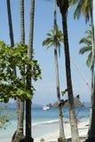 Tortuga View. Distant island near Tortuga Island Stock Photo