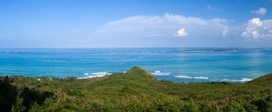 Distant Islands off Puerto Rico Stock Image