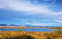 Distant Lake on the Prairie Royalty Free Stock Photo