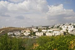 Distant a landscape. Kind on the city of Modein in Israel from one of Hills royalty free stock photography