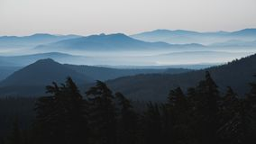 Distant Layers of Mountains in Lassen Volcanic National Park, Northern California stock image