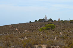 A Distant Lighthouse On A Hilltop Royalty Free Stock Photo
