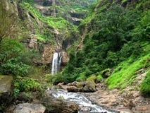 Distant Marleshwar waterfall scene Stock Image