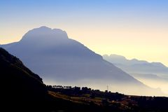 Distant Mountain And Sea Stock Image