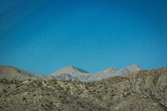 Distant mountain in California desert royalty free stock photos