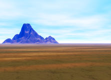 Distant Mountain on Horizon Landscape Royalty Free Stock Photo