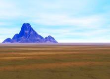 Distant Mountain on Horizon Landscape Royalty Free Stock Photo