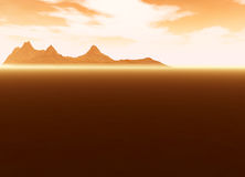 Distant Mountain on Horizon Landscape Desert Royalty Free Stock Image