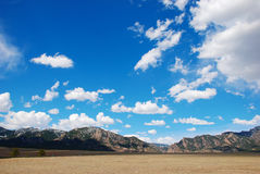 Distant Mountain Range Royalty Free Stock Photos