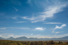 A distant mountain range in South Africa Royalty Free Stock Images