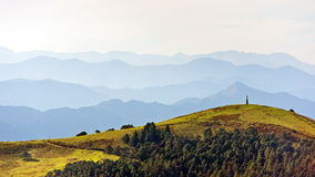 Distant mountain ranges Stock Photo