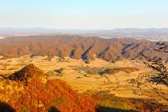 The distant mountains in autumn Stock Photos