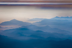Distant Mountains View Stock Images