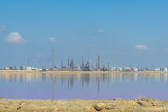 Distant Oil and Gas Refinery Plant Stock Images