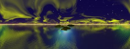 Distant planetfall,  panoramic Stock Photography