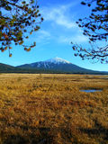 Distant Point. View of Mt. Bachelor at Sparks Lake - near Bend, OR stock photography