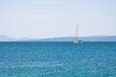 Distant sailboat Stock Photos